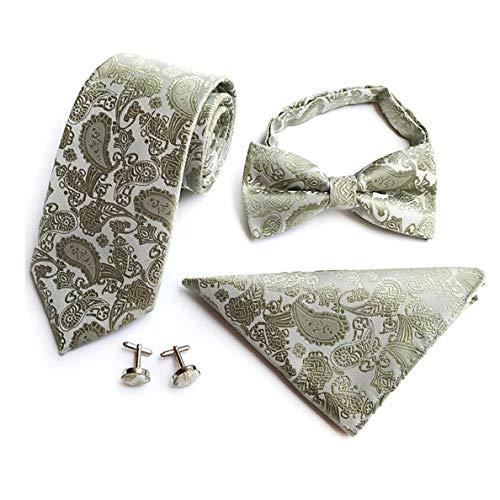 YILANLAN Ylanlan Mens laços 4pcs Tie set: conjuntos de gravata: gravata, gravata...