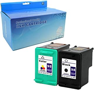 Tyjtyrjty Remanufactured Ink Cartridge Replacement for HP 98 & HP 95 for HP officejet 150 H470b 100 6310 HP Photosmart 8050 C4180 D5160 8049 (1 Black, 1 Tri-Color 2 Pack)