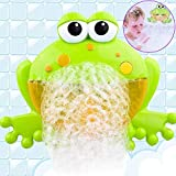 skyt YIZER Baby Bath Toys Bath Bubble Machine Blowing Bubbles Tub Big Frog Automatic Bubble Maker Blower Toys with 12 Music Song Bath Toys for Kids