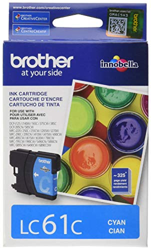 Brother 739233 LC 61 Cyan Ink Cartridge Standard (LC61CS)