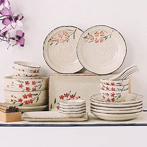 Eoco Platos de comedor-Plato de porcelana vibrante Bandeja de loza duradera para cumpleaños, fiesta del té, bodas y celebraciones de fiestas-Plato de vajilla, plato de desayuno (Color : 9 pieces)