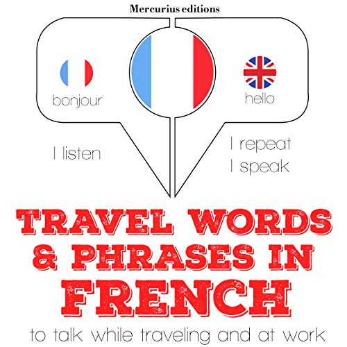 Travel words and phrases in French audiobook cover art