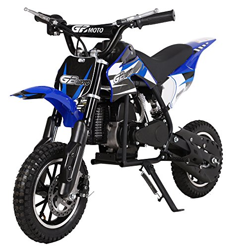 49CC 2-Stroke Gas Power Mini Dirt Bike Dirt Off Road Motorcycle, Pit Bike (Blue)