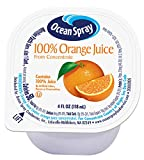 Ocean Spray 100% Orange Juice Cups, 4 Ounce (Pack of 48)
