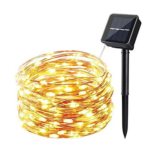 ZYR Solar LED Light String Outdoor Waterproof Copper Wire String For Valentine Wedding Holiday Party Fairy Lights-multicolor,solar 10M