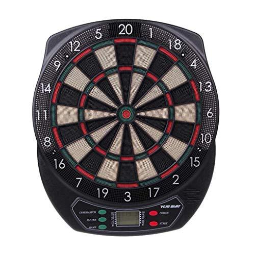 DPPAN Elektronische Dartscheibe Dartboard, LCD-Anzeige Anzeigers, 21 65 Spielen Varianten umfassen 3 Dartpfeile 12 Soft-Tipps 8 Spieler, Batterie/Stromversorgung,Multicolor