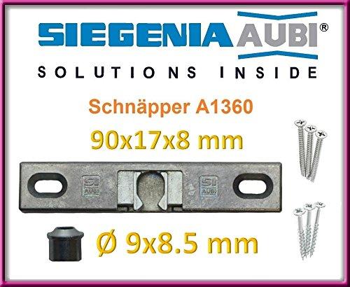 SI Siegenia Balkontür Terrassentür Schnäpper A1360 Türschnäpper inkl. Hülse