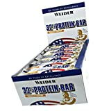 Weider 32% Protein Riegel 60g Weisse Schokolade 10er Pack 10x 60g, Weisse Schokolade