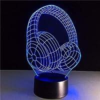 3D LedナイトライトアクリルイヤホンイリュージョンUsb Rgbデスクランプ家の装飾ホリデーギフトヘッドフォンデザイン