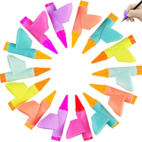 Faburo 14 Piezas Soporte de Lápiz Corrector de escritura para Niños Adecuado de Lápiz Herramienta Ayuda Escribir para Niños/Adultos