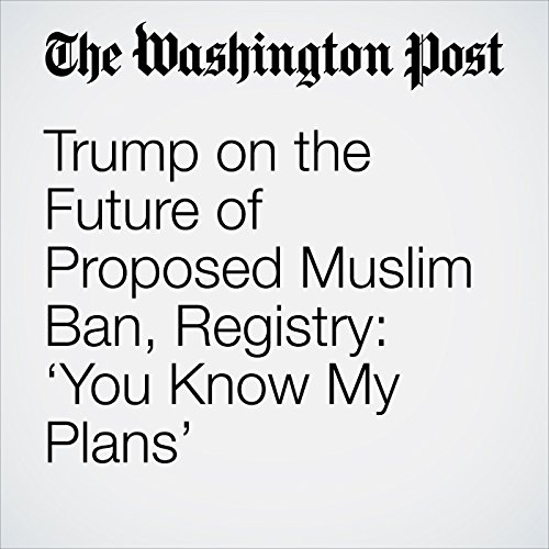 Trump on the Future of Proposed Muslim Ban, Registry: 'You Know My Plans' audiobook cover art