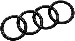 Audi Original Ringe Black Edition Emblem Blackline Zeichen Logo schwarz
