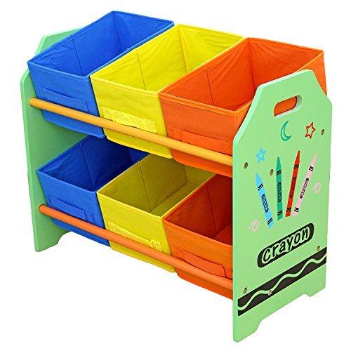 Kiddi Style Kinderregal mit 6 Boxen & stylisches Kinder Aufbewahrungsregal – Kinder Wandregal & Kindermöbel mit Aufbewahrungsboxen zur Spielzeugaufbewahrung