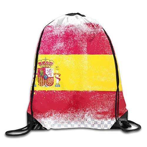 EU Angustiado Bandera de Grunge España Mochila con cordón Bolsas de Moda de Gran Capacidad para la Escuela de Oficina