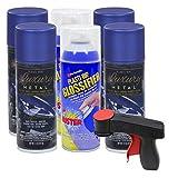 Plasti Dip Rim Kit: 4 Aerosol Cans Luxury Ultrasonice Blue, 2 Aerosol Cans Glossifier, 1 Cangun