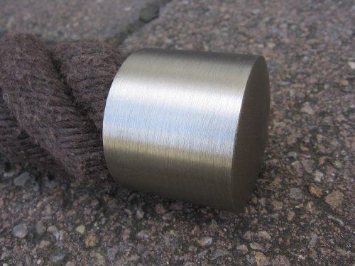 Capuchon en nickel mat pour corde de main courante 40 mm