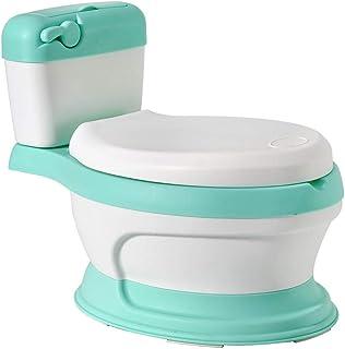 Glenmore Orinal en Forma de Water Mini WC Inodoro para Bebe Ninos Nina Retrete Infantil con Tapa Aprendizaje Verde