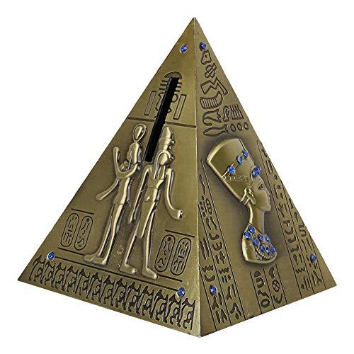 Hztyyier Pirámide egipcia Metal Pirámide de Bronce Modelo Galvanoplastia Viaje Delicado Recuerdo Hucha