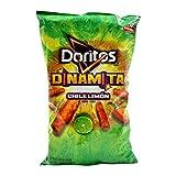 Doritos, Dinamita, Chile Limon Rolled Tortilla Chips, 9.75oz Bag (Pack of 4)