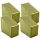 Patas de goma para escalera de madera, 4 unidades, 3-8 peldaños, tamaño interior 56 x 23 mm, color arena HB40