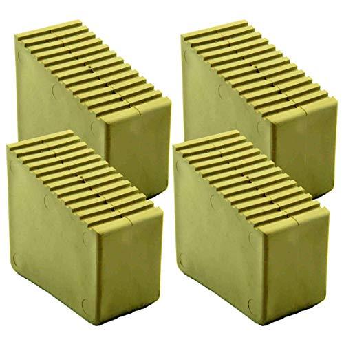 Leiterfüße Gummifüße für Holzstehleitern 4 Stk. 3-8 Sproßen INNENMAßE 56x23mm Sandfarben HB40
