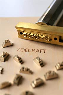 26 Interchangeable Alphabet Letter Stamp with T-Slot Holder/Customized Brass Stamp/Leather Stamp/Wood Stamping/Hot Foil Stamp/Number,Alphabet DIY Die Cut Leather Stamp Mold (Set A)