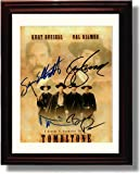 Framed Tombstone Autograph Replica Print - Val Kilmer and Kurt Russell