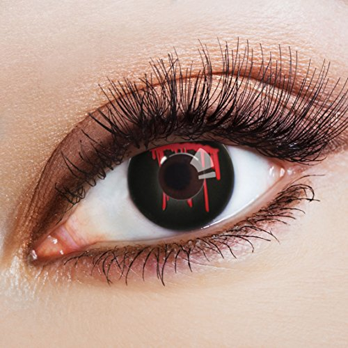 aricona Kontaktlinsen - schwarze Kontaktlinsen Halloween - farbige Kontaktlinsen ohne Stärke