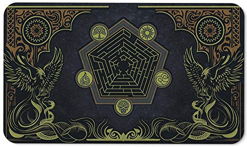 Paramint Oceanic Phoenix - MTG Playmat - Perfect for Magic The Gathering, Pokemon, YuGiOh, Anime - TCG Card Game Table Mat - Durable, Thick, Cloth Fabric Top with Rubber Bottom by Daniel Ziegler