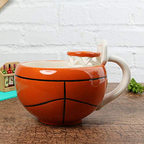 Doinbtoy Tazza da caffè in Ceramica Creativa Tazza da caffè Tazza da Latte Tazza da 401-500 ml Tazza da Basket