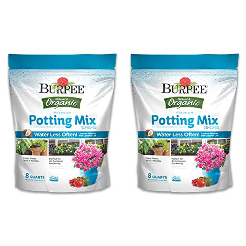 Burpee Organic Premium Potting Mix, 8 Quart, 2 Pack