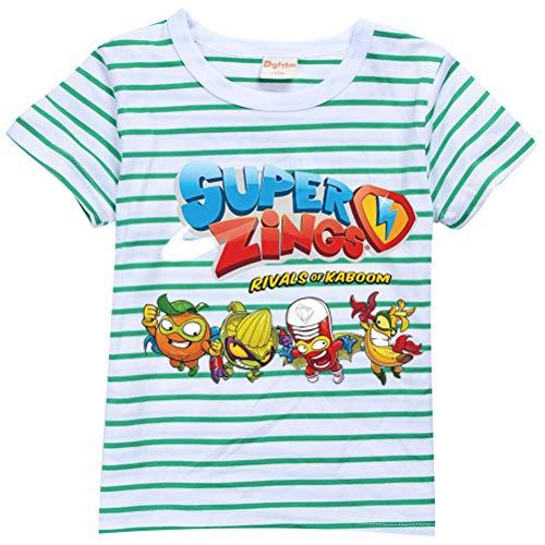 ZONVENL Superzings Maglietta T-Shirt Semplice Tshirt Tshirt Tshirt per Il Tempo Libero T-Shirt Semplice for Ragazzi e Ragazze Ragazzi (Color : A04, Size : 90)