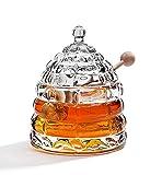 STUDIO SILVERSMITHS Beehive Crystal Honey Jar