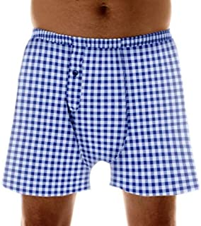 1-Pack Men's Navy Check Regular Absorbency Incontinence 2-in-1 Boxers Large (Waist 38-40)
