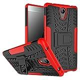 FaLiAng Lenovo Phab 2 Funda, 2in1 Armadura Combinación A Prueba de Choques Heavy Duty Escudo Cáscara Dura para Lenovo Phab 2 (Rojo)