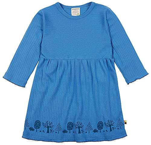 loud + proud Mädchen Kleid Derby Rib, GOTS Zertifiziert Kinderkleid, Indigo, 122/128