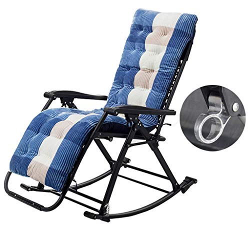 YVX Rocking Chairs for Adults Garden Chair Folding Armchair Lying for Beach Camping Pool MAX.250kg