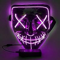 WuJun Halloween Maske LED Light Wire Cosplay Maske Purge Mask für Halloween Festival Cosplay Halloween Kostüm