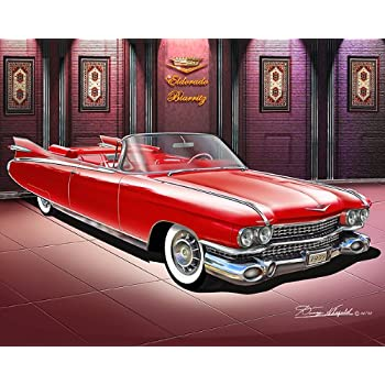 amazon com 1959 cadillac eldorado biarritz seminole red car art print poster art print poster by artist danny whitfield size 16 x 20 posters prints 1959 cadillac eldorado biarritz seminole red car art print poster art print poster by artist danny whitfield size 16 x 20