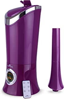 Air Innovations MH-701BA Purple Humidifier Whisper-Quiet Large Capacity 1.7Gal Cool Mist Ultrasonic for Rooms up to 600 SqFt and Baby Bedroom Lasts Up to 96 Hours Includes Remote and Digital Display