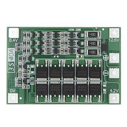 Módulo de fuente de alimentación 3S 40A Li-ion cargador de batería de litio Lipo Cell Módulo PCB Junta de Protección BMS for el taladro Motor 12,6 V Con el Balance Para el hogar, laboratorio, bricolaj