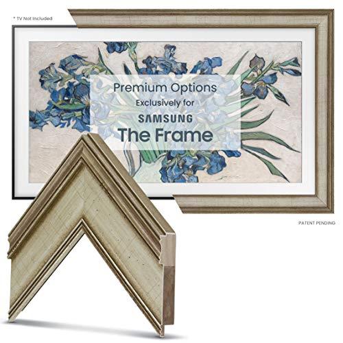 Deco TV Frames - Warm Silver Frame Custom para Samsung The Frame...