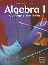 McDougal Littell Algebra 1: Concepts and Skills (Algebra 1: Concepts & Skills)