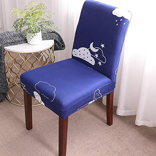 Fundas para sillas Gotas de Lluvia Azules Fundas sillas Comedor Fundas elásticas, Fundas de Asiento para Silla,Diseño Jacquard Cubiertas de la sillas,para el Hogar, Restaurante, Bar(8 Piezas)
