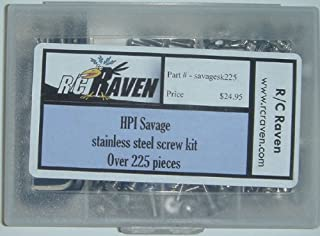 RC Raven HPI Savage 25, SS, X Stainless Steel Screw Kit