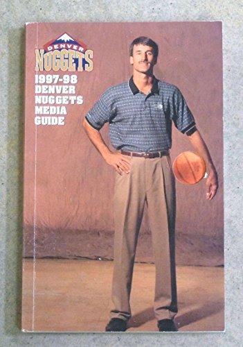 DENVER NUGGETS NBA BASKETBALL MEDIA GUIDE - 1997 1998 - NEAR MINT
