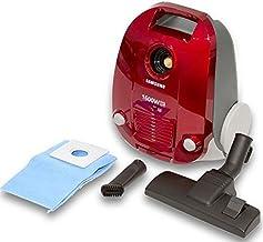 مكنسة كهربائية بوعاء 1600 واط من سامسونج- حمراء، SC4130