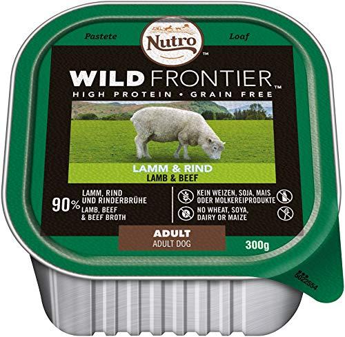 Nutro Hundefutter Nassfutter Wild Frontier Adult 1+ Lamm & Rind, 1 Schale (1 x 300g)