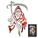 customTAYLOR33 High Intensity Grade Reflective Grim Reaper Decal (10 inches X 6 inches)