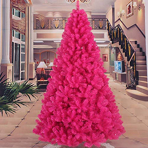 POETRY Artificial Christmas Tree Plastic Christmas Decor Support Base for Home Christmas Decorations Miniature Rose Red Tree Decortaion 8ft / 240cm